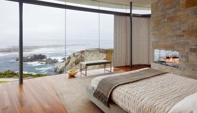 Фотообои вид из окна морской прибой