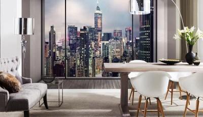 Фотообои вид из окна нью йорк