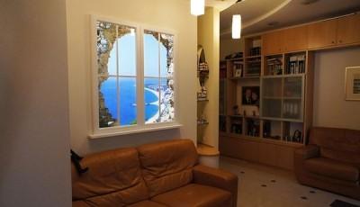 Фотообои вид из окна пляж