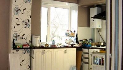 Обои для маленькой кухни студии в хрущевке
