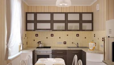 Обои для маленькой узкой кухни в хрущевке с полоской вертикальной