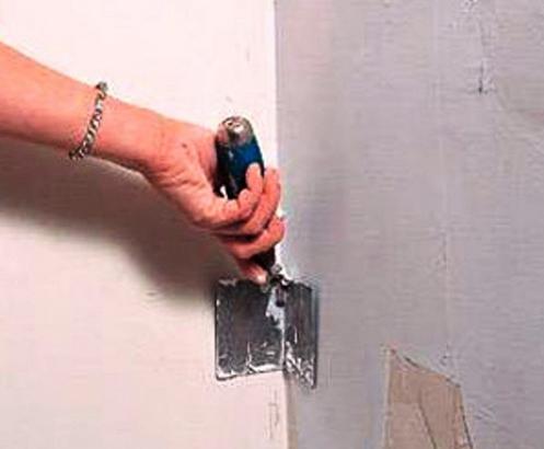Как вариант, можно использовать обыкновенную шпатлевку для внутренних работ.