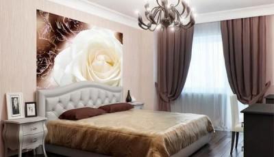 фотообои роза фото в спальне