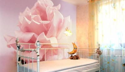 фотообои роза в детской комнате