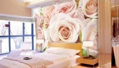 фотообои розы кремовые в интерьере гостиной фото