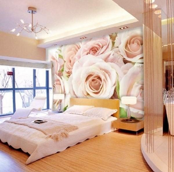 Фотообои розы белые в интерьере гостиной с каплями фото