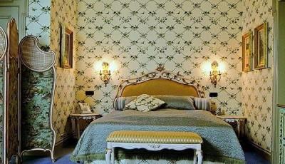 тканевые обои для спальни