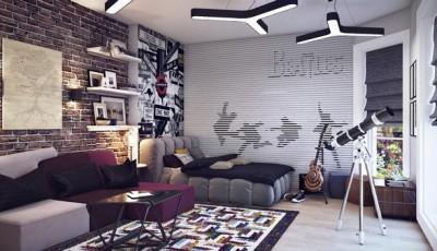 Фотообои для подростковой комнаты Битлз