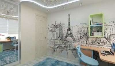 Фотообои для подростковой комнаты Париж