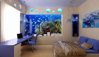 Фотообои для подростковой комнаты аквариум