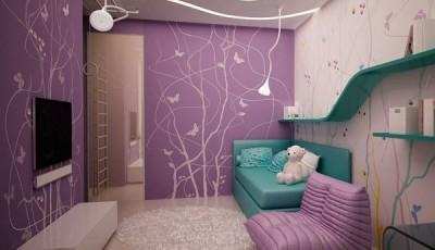 Фотообои для подростковой комнаты девочки