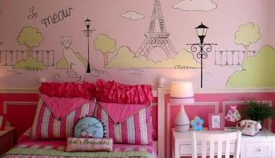 Фотообои для подростковой комнаты девушки Париж