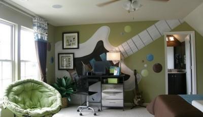 Фотообои для подростковой комнаты гитара