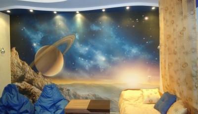 Фотообои для подростковой комнаты космос