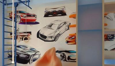 Фотообои для подростковой комнаты парня машины