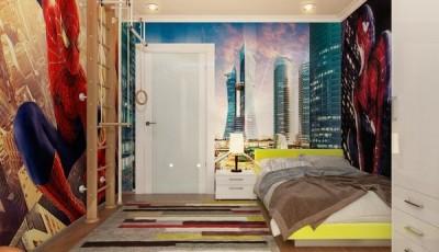 Фотообои для подростковой комнаты спайдермен