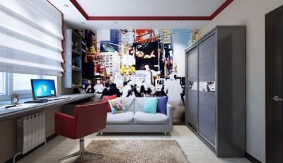 Фотообои разноцветные для подростковой комнаты