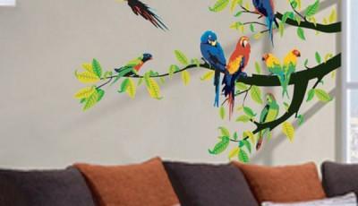 Фотообои с птицами наклейки на стену