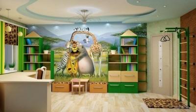 Фотообои с животными для детской