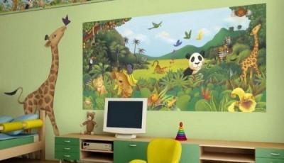 Фотообои с животными для стен детской