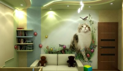 Фотообои с животными для стен кошки