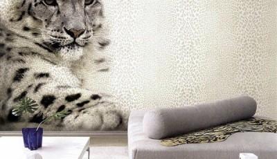 Фотообои с животными для стен леопард