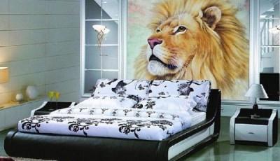 Фотообои с животными для стен лев