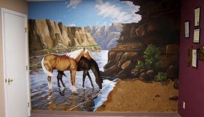 Фотообои с животными для стен лошади