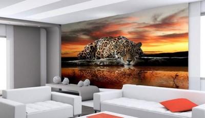Фотообои с животными для стен тигр
