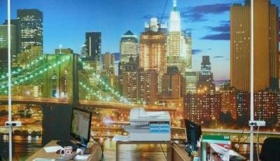 Фотопечать на обоях на стене Нью-Йорк