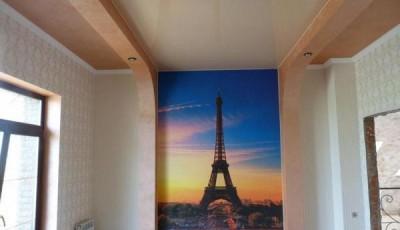 Фотопечать на обоях на стене Париж