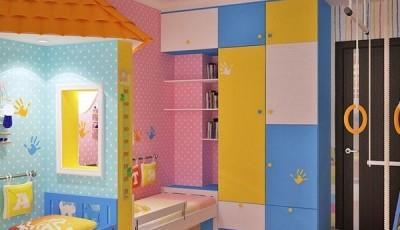 Обои для детской для разнополых детей с потолком в виде неба