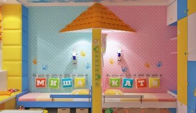 Обои для детской для разнополых детей с зонированием