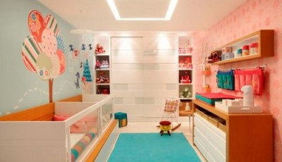 Обои в детскую комнату для разнополых детей контрастные