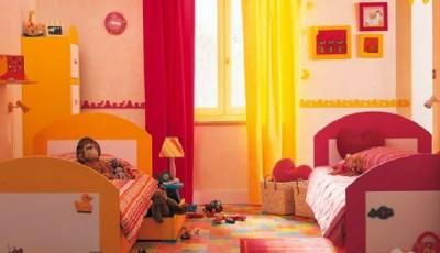 Обои в детскую комнату для разнополых детей в ярких тонах