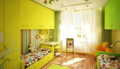 Обои в детскую комнату для разнополых детей ярких тонов
