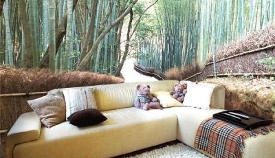 Угловые фотообои бамбук