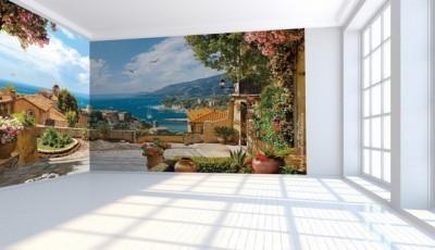 Угловые фотообои на две стены Средиземное море