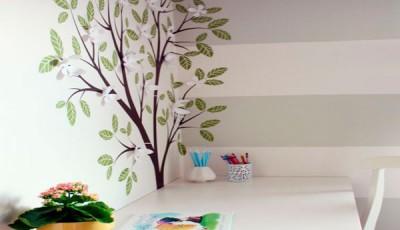 Угловые фотообои на две стены дерево