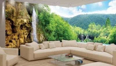 Угловые фотообои на две стены горы лес