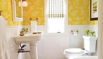 Плитка под обои: можно ли клеить в кухне, ванной и на кафель, фото идей