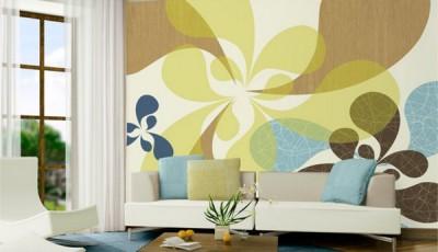 абстрактные обои для стен гостиной