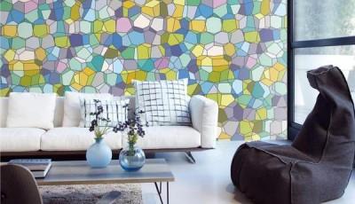 абстрактные обои для стен комнаты