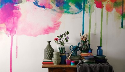 абстрактные обои для стен краски