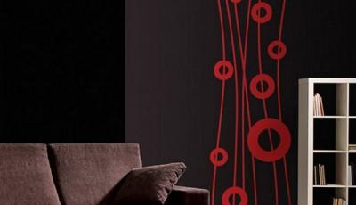 абстрактные обои для стен красные