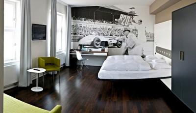 фотообои черно белые ретро машина на стену гостиной
