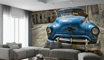 фотообои кубинская ретро машина на стену