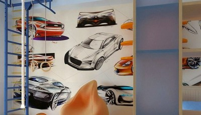 фотообои машины на стену детской