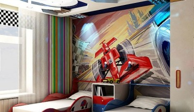 фотообои машины на стену формула1 в детской