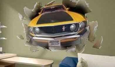 фотообои машины на стену масл кар